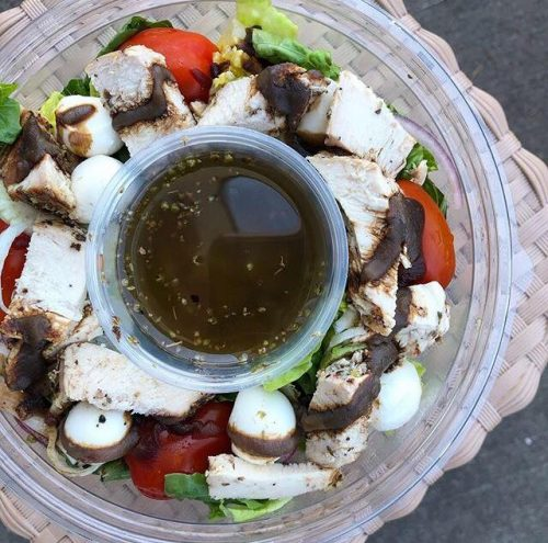 Caprese Grilled Chicken Salad