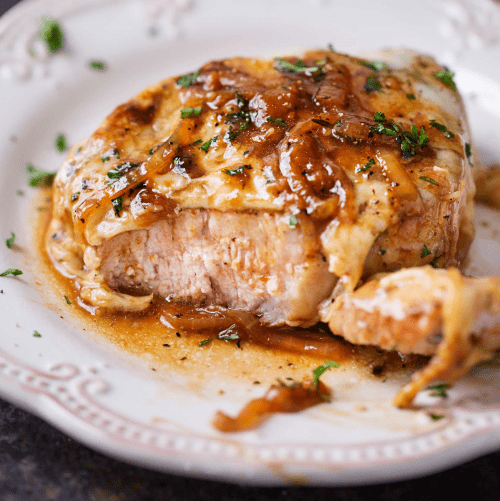 French Onion Pork Chop